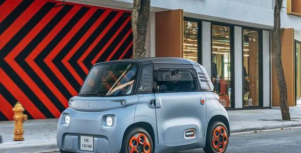 【超小型EV・海外】シトロエン、超小型電気自動車「Ami」でモビリティサービス開始へ