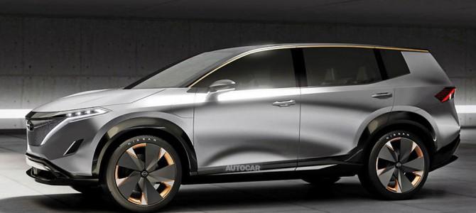 【話題】日産、大型SUVの100%電気自動車を検討か 新型フルEVの予想イラスト