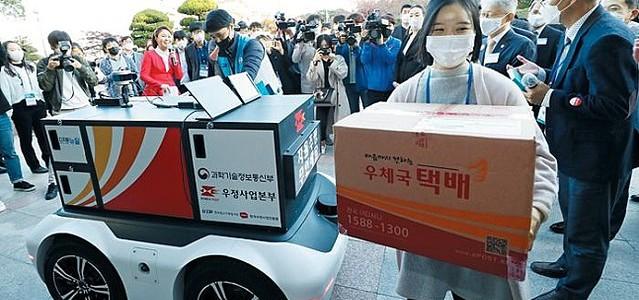 【自動運転・海外】郵便物、差し出しから配達まで…韓国で世界初の自動運転の無人郵便局登場