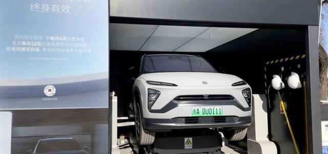 """【電池・海外】作業は最短20秒、中国がEV普及へ「電池交換型」 """"自動車強国""""実現の狙いも"""
