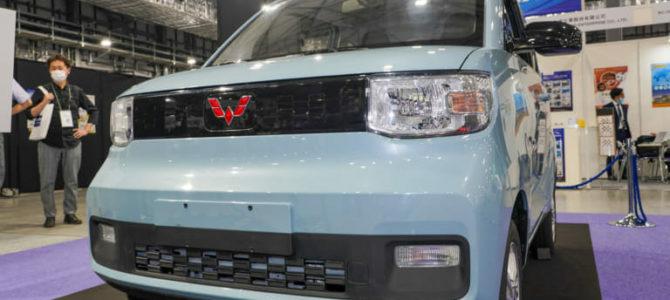 【話題】45万円で中国ベストセラー 電気自動車『宏光 MINI EV』が日本国内初披露