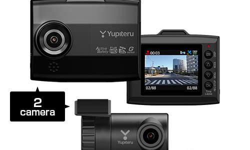 【話題・新製品】あおり運転をスマホに自動記録、ユピテルが無線LAN対応2カメラドラレコ発売へ