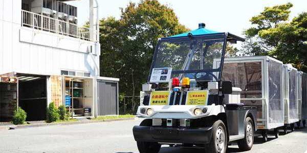【話題・自動運転】ヤマハ発流の業務改善策とは 無人運転車「スマートファクトリービークル」が工場敷地内を走る